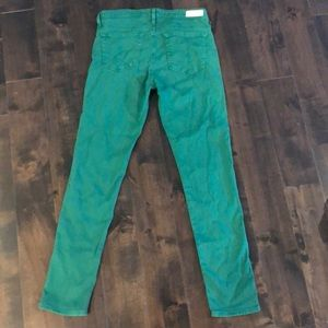 Ag Adriano Goldschmied Pants - AG Green Jeans
